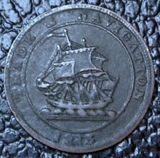 1813 NOVA SCOTIA HALF PENNY TOKEN - Trade & Navigation-Large Wave BR 965  NS21A1