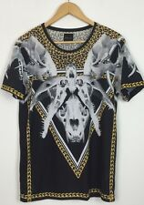 MENS ZARA LEOPARD RAM ANIMAL BONES SKULL URBAN T SHIRT TOP UK S
