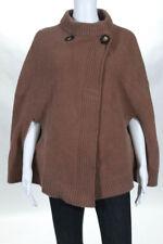 Stella McCartney Light Brown Wool Crew Neck Poncho Coat Size 36