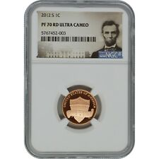 2012-S NGC PF70 Ultra Cameo Proof Lincoln Penny Coin