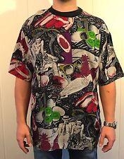 VINTAGE 80'S EDITH KUMAR Casual Wear POP ART T-Shirt sz XL Sunglasses Kiwi Print