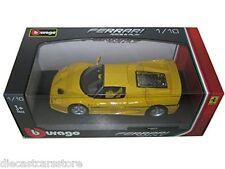 Bburago FERRARI F50 YELLOW 1/18 Diecast Cars NEW IN BOX 18-16004YL
