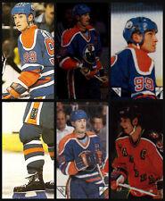 Lot of 6 Wayne Gretzky Oilers 1984-85 O-Pee-Chee 84-85 NHL Hockey Stickers