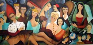 """MARIA MURGIA - """"Il Papa"""" - Olio su tela cm 150x300  +  ARCHIVIO        ANNO 1981"""