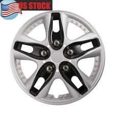 4 Pcs 13  Inch Hub Cap ABS Silver Rim Wheel Skin Cover Center Caps Covers