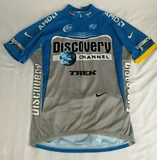 NIKE Discovery Channel Trek Cycling Race Fit Jersey 3/4 Zip Size L Made in Italy