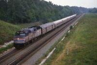 AMTRAK Railroad Locomotive 210 HUNTON VA Original 1988 Photo Slide