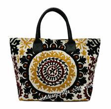 Indian Ethnic Beach Bag Cotton Embroidery Handbag Tote Women's Shoulder Bag 03