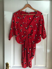 Maje Rouge Fleuri Bloom tenue robe tunique taille 1/petite robe MINI Festival summr