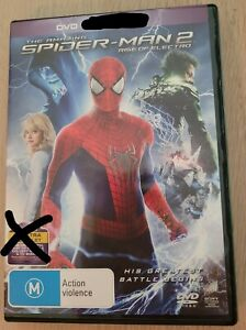 AMAZING SPIDER-MAN 2 RISE OF ELECTRO DVD (disc only, no digital code) Region 4