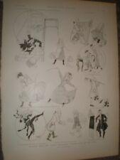 Alegría Burlesque Cinder-Ellen Up demasiado tarde por Rene Bull 1892 impresión ref au