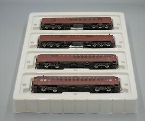 Rivarossi #RT600227 HO Scale Pennsylvania 60` HWT 4-Passenger Car Set - Boxed
