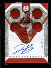 TROY BROWN JR 2018/19 CORNERSTONES ROOKIE QUAD USED JERSEY AUTO #054/199 AY1664