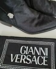 Gianni Versace Mens Vintage Mohair Boot Black Size 6.5