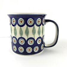 Boleslawiec Polish Pottery Mug Classic Peacock Design Coffee Tea Can Cup New