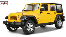 MAISTO TRUCKS 1:24 SCALE 2015 Jeep WRANGLER Unlimited DIECAST MODEL CAR YELLOW