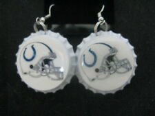 "1"" Bottle Cap Image Earrings ~ Handcrafted ~ **Gift Idea ~ Colts"