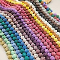 Natural Stone Volcano Lava Round Loose Beads For DIY Jewelry Makings 8MM Dw