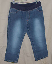 Maternity Announcements, Medium (8/10) Denim Under Belly Capri