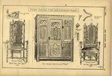 1903 Recent Additions To South Kensington Museum Chairs Cupboard