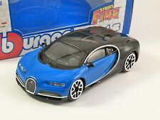 BUGATTI CHIRON in Blue / Black - 1/43 scale model by Burago