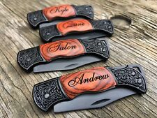 7 Personalized Engraved Pocket Knives Knife Custom Wedding Party Gifts Decor
