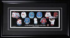 Colorado Avalanche Quebec Nordiques Jersey Evolution NHL Hockey Collector Frame