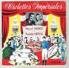 33T 25cm Marcel MERKES & Paulette MERVAL Vinyle VIOLETTES IMPERIALES -ODEON 1164