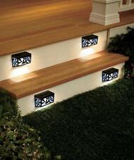 4 PC SOLAR BUTTERFLY STEP LIGHT SET DECK WALKWAY STAIRWAY OUTDOOR HOME DECOR