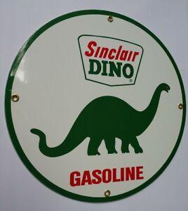 Sinclair Dino Gas Oil Gasoline Porcelain Sign