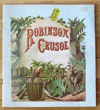 ROBINSON CRUSOE antique reproduction popup changing pictures Merrimack Pub L1