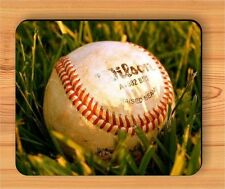 BASEBALL BALL ON FIELD GRASS MOUSE PAD -lko9Z