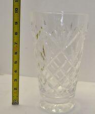 "Waterford Crystal Innisfree  pattern 10"" tall Large Flower Vase"