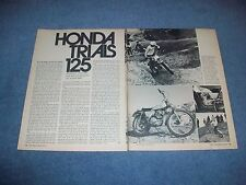 1973 Honda 125 Trials Vintage Motorcycle Info Article