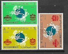 UNITED ARAB EMIRATES Sc 33-35 NH issue of 1974 - UPU
