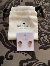NWT Kate Spade Gumdrop Studs Light Peach Earrings Crystal Dust Bag included $32