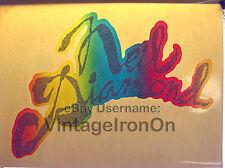 70's Neil Diamond Autograph Auto Tour Concert ROCK Orig VTG t-shirt iron-on NOS