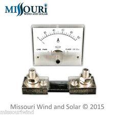 dc 100 amp analog meter for wind turbine generator solar panel pv hawt vawt pma