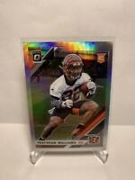 🔥🔥2019 OPTIC TRAYVEON WILLIAMS SILVER HOLO PRIZM ROOKIE RC #143 Bengals
