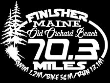 2019 Any year Ironman 70.3 Maine Old Orchard Beach Triathlon Finisher Decal