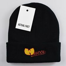 Actual Fact Wucci Wu Tang Clan Roll Up Black Beanie Hat