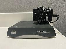 Cisco ATA186-I1-A Analog Telephone Adapter w/ Power Supply