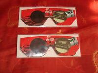 Coca-Cola Reklame Andreas Türck 3-D Brille 2 Stück neuwertig !!