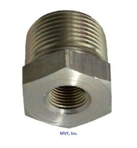 """1/4"""" X 1/8"""" 3M/6M Cast Threaded NPT Hex Bushing 304 Stainless Steel <SS12020101"""