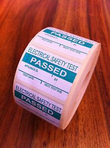 PAT Testing Passed Labels/Stickers x 2000 FREE P&P