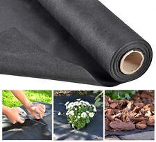 Gartenvlies Unkrautschutz Unkrautvlies Mulchvlies Unkrautfolie schwarz 15 m