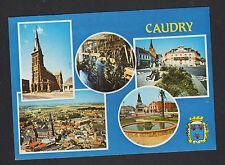 CAUDRY (59) USINE , MAIRIE , FONTAINE & EGLISE en 1985