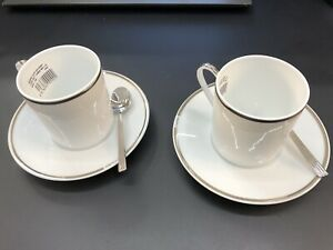 Cartier Original American Coffee Set For 2 IN Porcelain Limoges