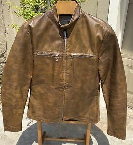 Gorgeous! Vintage 1960's Harley Davidson Sportster Soft Brown Leather Jacket