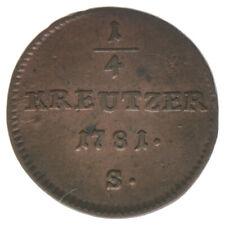 RDR Österreich Habsburg Joseph II. 1/4 Kreuzer 1781 S A34101